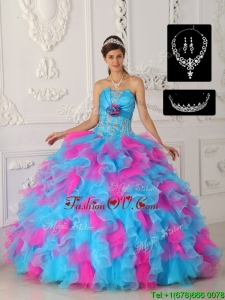 Unique Multi Color Ball Gown Quinceanera Dresses with Appliques