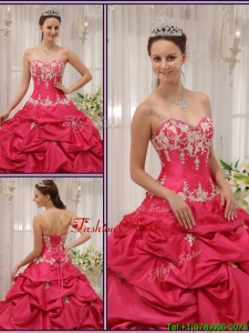 Unique Sweetheart Appliques and Pick Ups Quinceanera Dresses