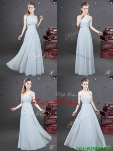 Most Popular Empire Grey Long Prom Dress in Chiffon