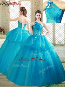 New style One Shoulder Quinceanera Dresses with Ruffles and Appliques