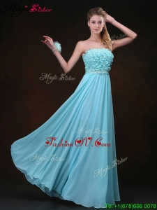 Beautiful Empire Strapless Dama Dresses with Appliques