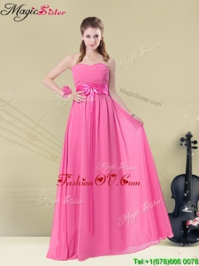 Pretty Sweetheart 2016 Dama Dresses with Ruching and Belt