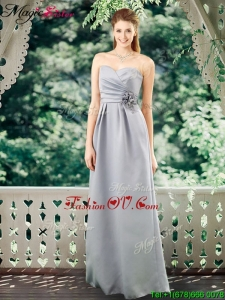 Romantic Empire Sweetheart Bridesmaid Dresses with Hand Made Flowers