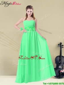 Wonderful Empire Sweetheart 2016 Dama Dresses with Ruching and Belt