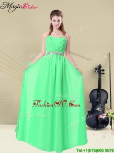 2016 Summer Gorgeous Sweetheart Floor Length Prom Dresses with Ruching and Belt