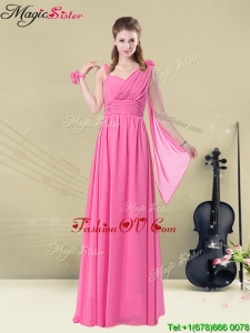 New Style Empire Straps Ruching 2016 Prom Dresses
