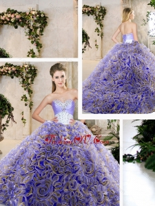Hot Sale Ruffles Lavender Quinceanera Dresses with Beading