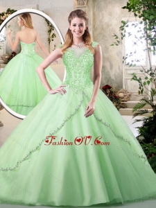 New Style Sweetheart Quinceanera Dresses in Apple Green