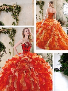Perfect Multi Color Quinceanera Dresses with Beading and Ruffles