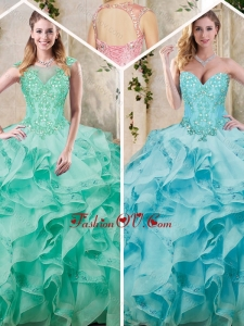 Popular Sweetheart Quinceanera Dresses with Appliques and Ruffles