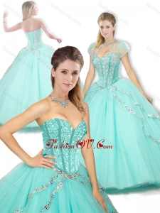 2016 Pretty Sweetheart Beading Quinceanera Dresses for Spring