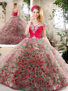 Best Brush Train 2016 Quinceanera Dresses in Multi Color