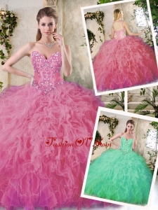 Best Popular Appliques Quinceanera Dresses in Watermelon