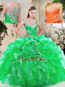Best Scoop Quinceanera Dresses with Beading and Ruffles