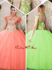 Best Straps Quinceanera Dresses with Beading and Appliques