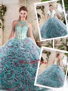 New Arrivals Halter Top Quinceanera Dresses with Appliqu