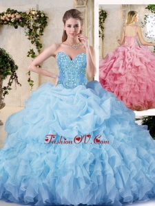 Hot Sale Ball Gown Quinceanera Dresses with Appliques and Ruffles