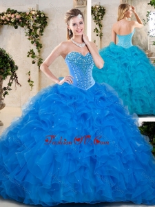 Lovely Multi Color Quinceanera Dresses with Beading and Ruffles