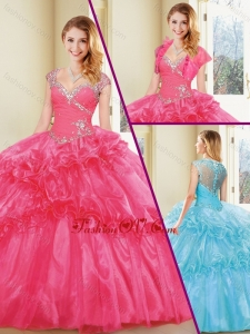 New Arrivals Straps Quinceanera Dresses with Beading and Ruffle
