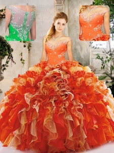 Popular Beading Quinceanera Dresses in Multi Color