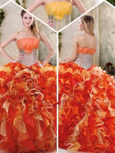 Gorgeous Multi Color Quinceanera Dresses with Sequins and Ruffles
