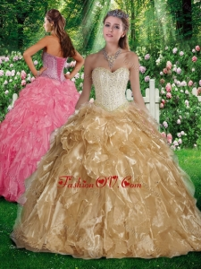Best A Line Sweetheart Beading and Ruffles Quinceanera Gowns