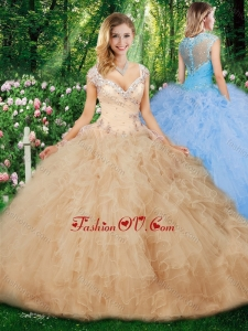 Best Ball Gown Quinceanera Gowns with Beading and Ruffles
