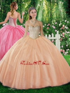 Best Ball Gown Sweetheart Beading Champagne Sweet 16 Dresses