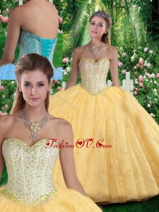 Best Ball Gown Sweetheart Beading Quinceanera Gowns for Fall