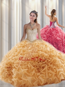 Lovely Ball Gown Sweetheart Beading Quinceanera Dresses with Brush Train