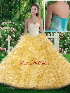 Lovely Sweetheart Quinceanera Dresses with Beading and Ruffles