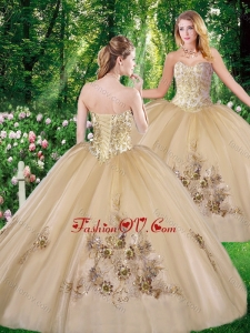 Perfect Ball Gown Beading Quinceanera Dresses with for all