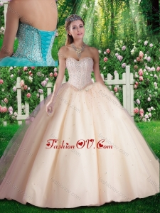 Simple Beading Quinceanera Dresses for 16 brithday Party