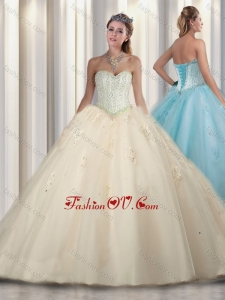 Simple Princess Beading and Sweet 16 Gowns Dresses