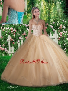 New style A Line Sweetheart Beading Quinceanera Dresses for 2016