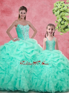 Pretty Ball Gown Sweetheart Beading Princesita With Quinceanera Dresses in Apple Green for Spring