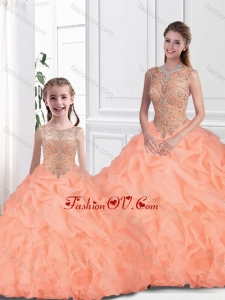 Inexpensive Scoop Princesita With Quinceanera Dresses with Beading for Fall