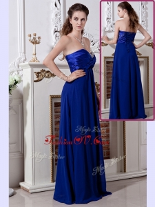 2016 Luxurious Empire Sweetheart Long Bridesmaid Dresses in Royal Blue