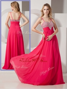 2016 Brand New Style Spaghetti Straps Prom Dresses with Beading