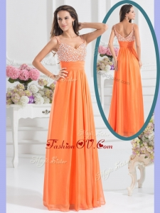 2016 Best Empire Spaghetti Straps Beading Homecoming Dress for Fall