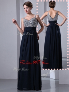 2016 Classical Empire Straps Side Zipper Beading Homecoming Dresses in Black