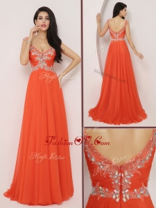2016 The Brand New Style Brush Train Homecoming Dresses with High Slit and Beading