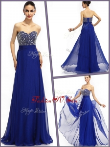 2016 Most Popular Empire Sweetheart Prom Dresses in Royal Blue