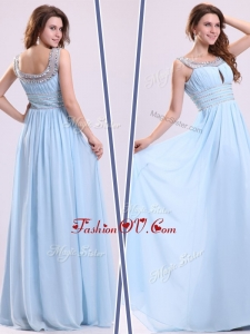 2016 Unique Empire Straps Sweetheart Prom Dresses with Beading