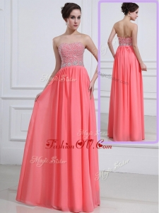 2016 Unique Sweetheart Watermelon Prom Dresses with Beading