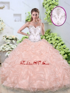 Beautiful Ball Gown Quinceanera Gowns with Beading and Pick Ups