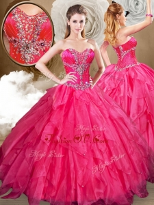Best Sweetheart Ball Gown Sweet 16 Dresses with Beading and Ruffles