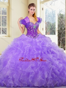 New Style Sweetheart Beading and Ruffles Sweet 16 Gowns