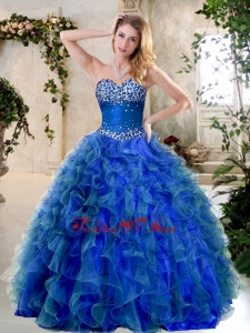 Simple A Line Sweetheart Quinceanera Gowns with Beading and Ruffles