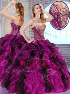 Top Selling Ball Gown Sweet 16 Dresses with Appliques and Ruffles